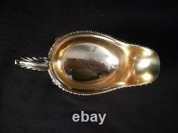 Impériale Russe Faberge 88 Pureté Gilded Gravy Bowl Tsarskoïe Selo, Poinçonnés