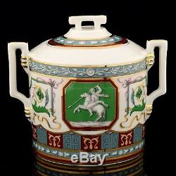 Impériale Russe Lomonosov Porcelaine Service À Thé Antique 6/14 New Gold Collection