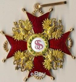 Insigne Médaille Impériale Russe Antique Gold Order St. Stanislav 1er (1467)