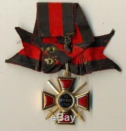 Insigne Médaille Impériale Russe Antique Ordre St. Vladimir Original Gold (1107a)