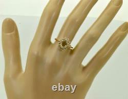 Magnifique Antique Impériale Russe Faberge 14k Or (56)&1ct Bague Diamants. Rare