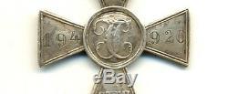 Médaille St Antique D'origine Impériale Russe George Pour La Croix D'argent 4 E (2283)
