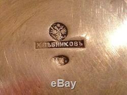 Monogramme À Thé Khlebnikov Russe Authentique Imperial Argent 84 Antiquités Russie