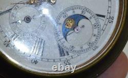 Montre De Poche De L'officier Russe Impérial Gunmetal&skull Moon/calendar