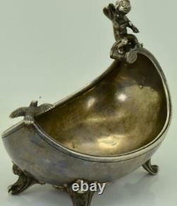 Musée Imperial Russian Faberge Award Silver&émail Rituel Kovsh Louche C1894