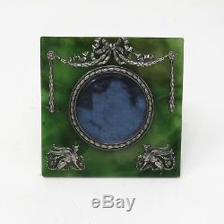 Nyjewel Impériale Russe Néphrite Cadre Photo Par Fabergé Argent Maître