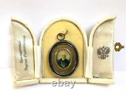 Original 19c. Russian Royal Imperial Icon St. Sergius Of Radonezh 84 Silver Mop