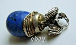 Pendentif Faberge Antique Impérial Russe Egg, 84 Argent