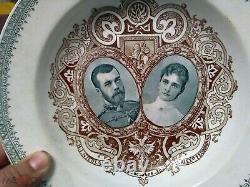 Plaque De Couronnement Impériale Russe Nikolaus II & Alexandra Romanov