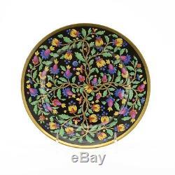 Plaque Russe En Porcelaine Impériale Usine De Style Persan Ornement Des Années 1830 Des Années 1840