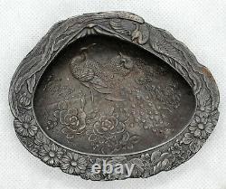 Rare Antique 1907 Assiette Impériale Russe En Fer Cendrier M. Teplykov, Kasli