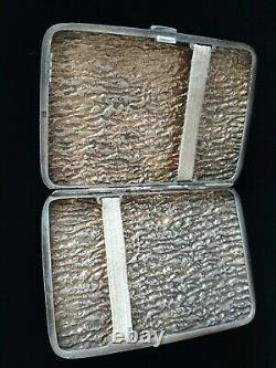 Rare Antique Imperial Russial 84 Samorodok Samorodok Cigarette Vesta Boîte À Tabac