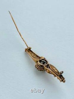 Rare Antique Impériale Rose Russe Or 56 14k Pin Broch Bijoux Pour Femmes 4,5 Gr