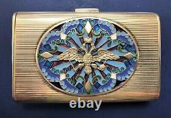 Rare Antique Impériale Russe 84 Cas D'émail Argent (tillander)