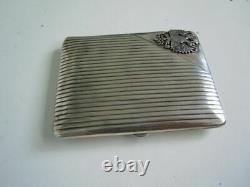 Rare! Faberge Design Russe Impérial 84 Argent Igarette Ase En Boîte