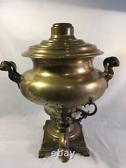 Rare Navet Antique Russe Samovar Batashev Awards Aigles Impériaux De L'ère 1889