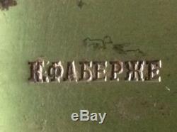 Rare Véritable Knifes Fabergé Argent 84 Monogram Impériale Russe Antique Russie