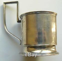 Russe Argent Impérial 84 Porte-verre Moscou 1908-1917 Maker Nikolay Strulev