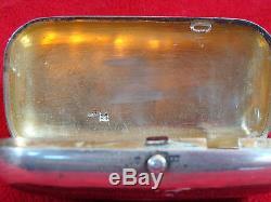 Russe Imperial 1880 Cigarette Case / Porte-argent Marqué 84 Avec Maître Marks