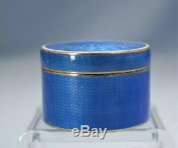 Russe Imperial 84 Gilt Bleu D'argent Guilloché Émail Tabatière Circa 1900
