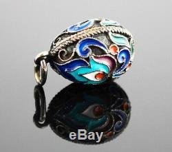 Russe Imperial 960 Vermeil Émail Egg Pendentif Charm