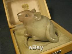 Russe Sculpture Animalière Miniature Impériale En Boîte En Bois Conception Fabergé