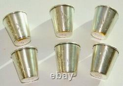 Russian Royal Soviet 875 Silver Art Cup Vodka Shots Goblet Calice Kovsh Egg Pin