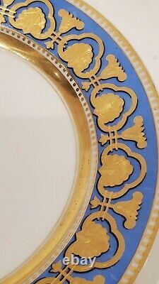 Russie Impériale Russe En Porcelaine Assiette À Dîner Ropsha Service Alexander II
