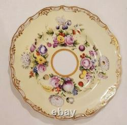 Russie Russe Imperial Porcelaine Fruits And Flowers Luncheon Plate Nicholas I