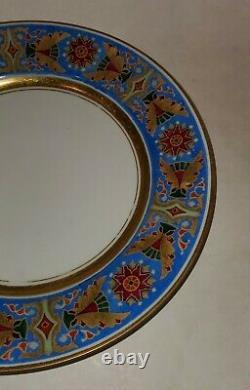 Russie Russie Imperial Porcelaine Assiette Gothique Service Alexander III 1890
