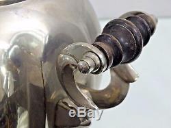 Super Rare Form Nickel Antique Plaqué Russe Samovar Théiere Imperial Période
