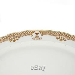 Une Antique Impériale Russe Fabrique De Porcelaine Gilded Platter Tsar Alexandre III