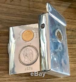 Véritable Russe Argent Impérial 84 Pièces D'or Rouble Vesta Cigarette Case