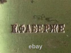 Vieux Couteau Faberge Argent 84 Monogramme Russe Imperial Antique Romanov