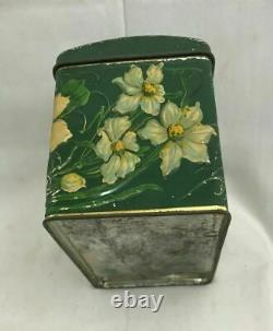 Vintage Circa 1900 S Antique Imperial Russian Tea Tin Box Pansy Wissotzky Russie