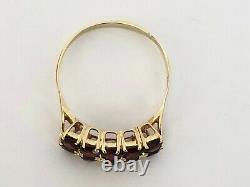 Vintage Rare Imperial Russe 14k Gold 56 Garnet Ring Fa Signé
